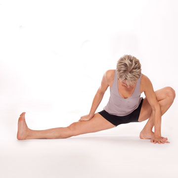 Parsva Eka Padasana --  One Leg Side Lunge Pose