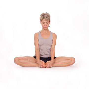 Baddha Konasana -- Bound Angle Stretch Pose